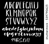 hand drawn font made by dry... | Shutterstock .eps vector #539790625