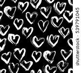 abstract seamless heart pattern.... | Shutterstock .eps vector #539791045