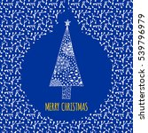 merry christmas doodle card.... | Shutterstock .eps vector #539796979