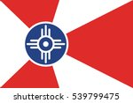 flag of wichita  kansas  usa.... | Shutterstock .eps vector #539799475