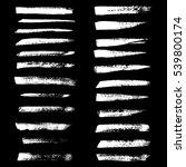black ink vector brush strokes. ... | Shutterstock .eps vector #539800174