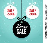 christmas balls sale. special... | Shutterstock .eps vector #539801659