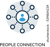 people connection vector icon  | Shutterstock .eps vector #539804239
