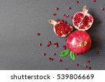 ripe pomegranate and sliced... | Shutterstock . vector #539806669