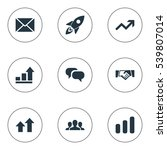 set of 9 simple teamwork icons. ...   Shutterstock .eps vector #539807014
