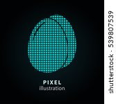 egg   pixel icon. vector... | Shutterstock .eps vector #539807539