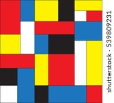 colorful background in mondrian ... | Shutterstock .eps vector #539809231