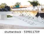 buffet reception fruit wines... | Shutterstock . vector #539811709