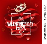 valentine's day party...   Shutterstock .eps vector #539814214