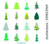 green christmas trees.... | Shutterstock .eps vector #539815969
