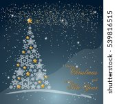 christmas tree from beautiful... | Shutterstock . vector #539816515