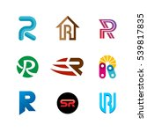 letter r logo set. color icon... | Shutterstock .eps vector #539817835