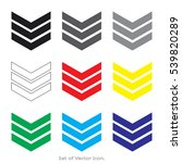 arrow set icons with nine color ... | Shutterstock .eps vector #539820289