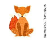 fox relaxed cartoon wild animal