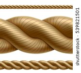 seamless rope divider isolated... | Shutterstock .eps vector #539821501