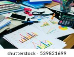 desk office and graph analysis... | Shutterstock . vector #539821699