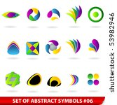 set of colored abstract symbols.... | Shutterstock . vector #53982946