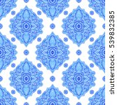 seamless pattern with abstract... | Shutterstock . vector #539832385