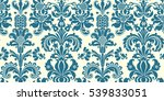 vector seamless floral damask... | Shutterstock . vector #539833051