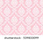 vector seamless floral damask... | Shutterstock . vector #539833099