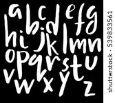 hand drawn font made by dry... | Shutterstock .eps vector #539833561
