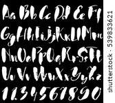 hand drawn font made by dry... | Shutterstock .eps vector #539833621