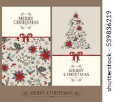 vector set. christmas and new... | Shutterstock .eps vector #539836219