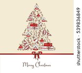 christmas and new year card... | Shutterstock .eps vector #539836849