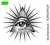 all seeing eye vector   Shutterstock .eps vector #539839519