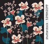 flowers irises abstract art... | Shutterstock . vector #539842099