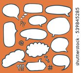 set of hand drawn comics style... | Shutterstock .eps vector #539845285