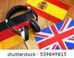 language course headphone and... | Shutterstock . vector #539849815