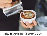 how to make coffee latte art | Shutterstock . vector #539849869