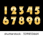 gold numbers set. golden... | Shutterstock . vector #539853664