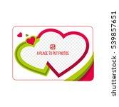 magnetic photo frame for... | Shutterstock .eps vector #539857651