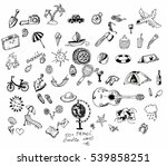 icons set doodle on the theme... | Shutterstock .eps vector #539858251