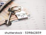 money concept. white calculator ... | Shutterstock . vector #539862859