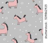 cute unicorn vector print | Shutterstock .eps vector #539862925