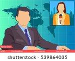 news studio. leading news... | Shutterstock .eps vector #539864035