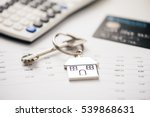 credit cards  key ring. concept ... | Shutterstock . vector #539868631