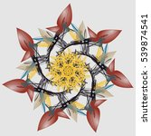 mandala in soft autumn colors.... | Shutterstock .eps vector #539874541