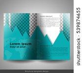 bi fold brochure template... | Shutterstock .eps vector #539874655