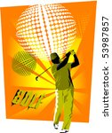 golfer on the field makes a... | Shutterstock .eps vector #53987857