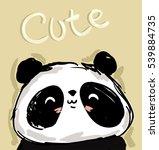 panda vector  cute panda... | Shutterstock .eps vector #539884735