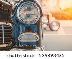 headlight lamp of retro classic ...   Shutterstock . vector #539893435