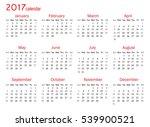 calendar for 2017 year on white ... | Shutterstock .eps vector #539900521