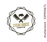 steak house vintage label with... | Shutterstock .eps vector #539903671