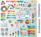 infographic elements collection ... | Shutterstock .eps vector #539906455