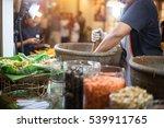 making of green papaya salad ...   Shutterstock . vector #539911765
