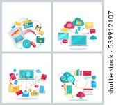 data provision  cloud computing ... | Shutterstock . vector #539912107